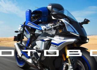 La moto guidata dal robot umanoide
