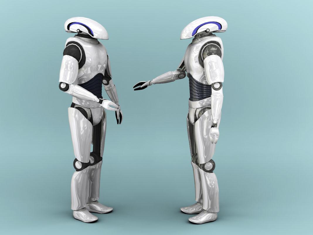 Due robot che parlano tra di loro