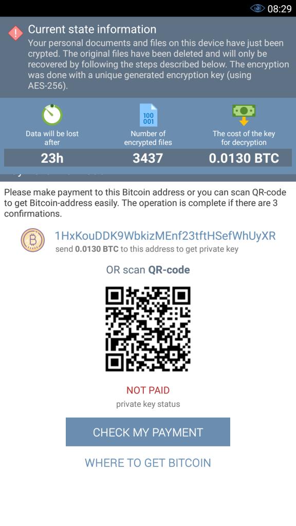 Un malware senza precedenti, il DoubleLocked, che è capace di bloccare i dispositivi e di cifrare i dati per poi chiedere un ricatto in Bitcoin.