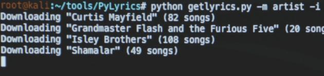Le canzoni degli artisti scaricate da Elliot