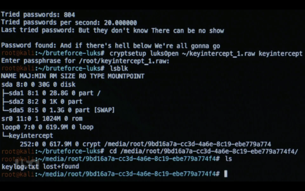 La password scoperta tramite bruteforce