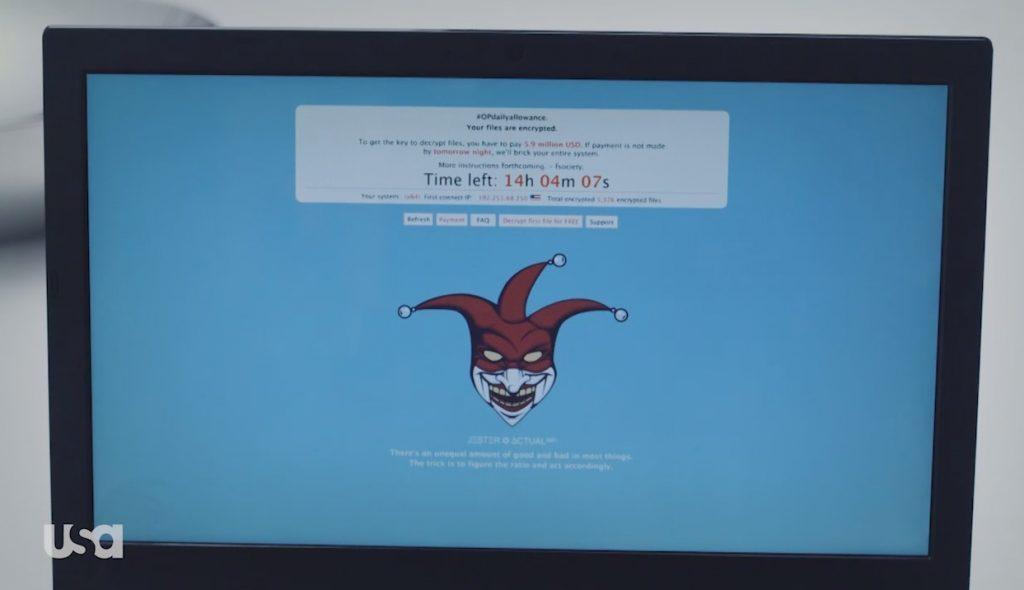 Il ransomware visto in Mr. Robot