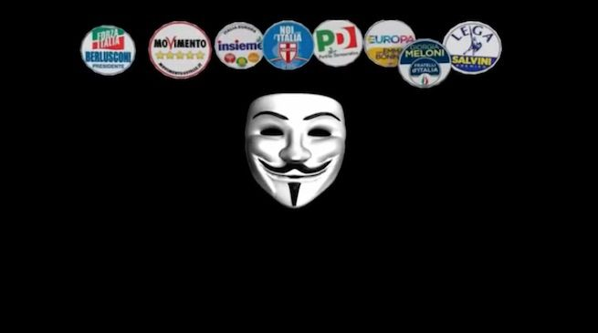 Screenshot dal video di Anonymous