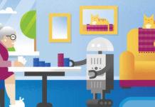 RAS è il robot creato dalla Washington State University che si occupa di aiutare gli anziani nelle attività quotidiane.