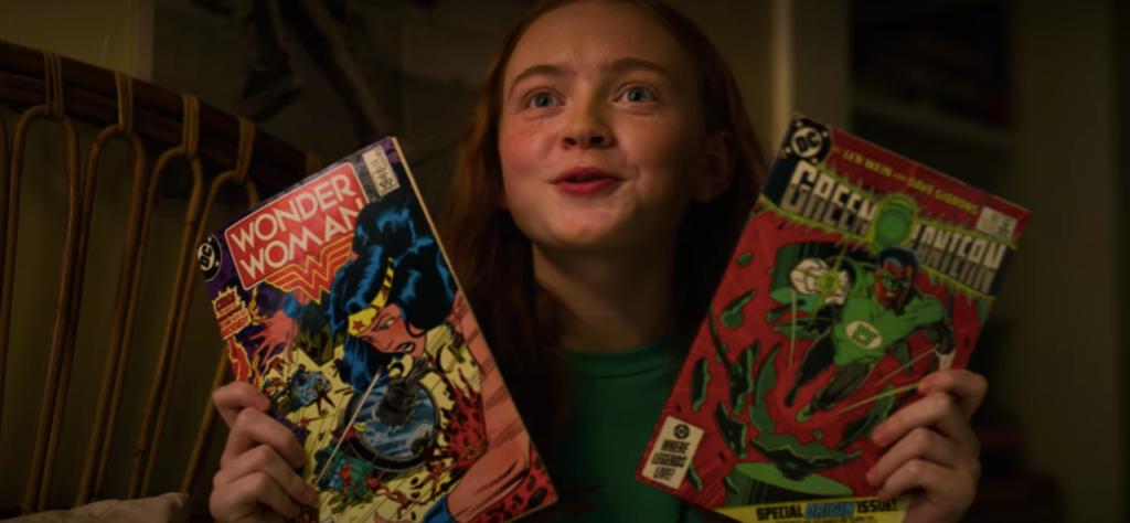 Max e i fumetti di Wonder Womand e Green Lantern. Credits: gamespot.com