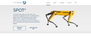 Pagina del sito Boston Dynamics in cui ci si può iscrivere alla mailing list o richiedere uno Spot