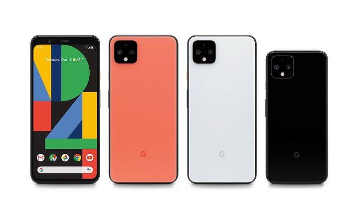 La linea Pixel 4 di Google. Credits: techccrunch.com