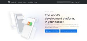 Sito per registrarsi alla versione beta di GitHub mobile