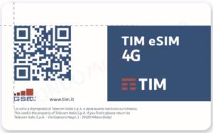 QR tramite il quale si potrà inserire virtualmente la eSIM all'interno dello smartphone
