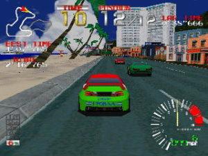 Ridge Racer, primo gioco per Playstation. La resa 3D è eccezionale, se confrontata con le altre dell'epoca.