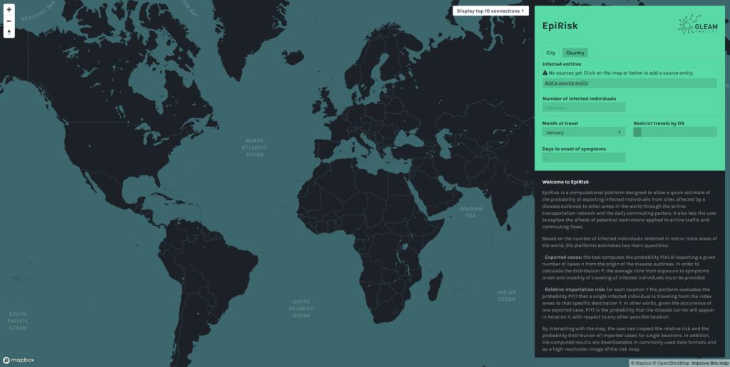 Come appare la mappa di EpiRisk