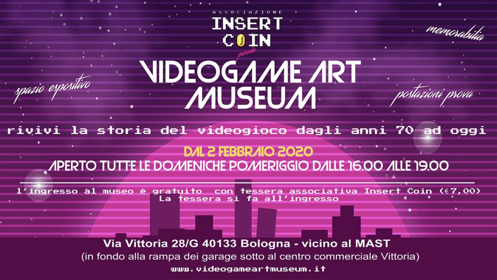 Locandina del Videogame Art Museum di Bologna