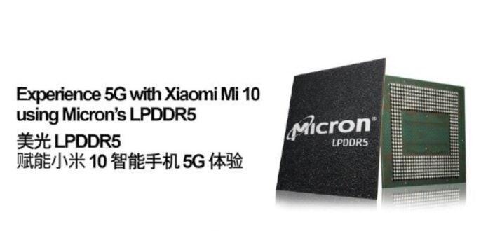 Le RAM LPDDR5 del nuovo Xiaomi Mi 10 prodotte da Micron Technology