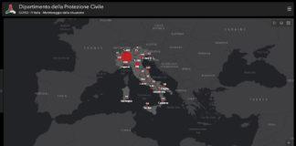 Mappa Coronavirus Protezione Civile Copertina