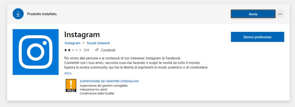 Instagram Direct Microsoft Store Screenshot