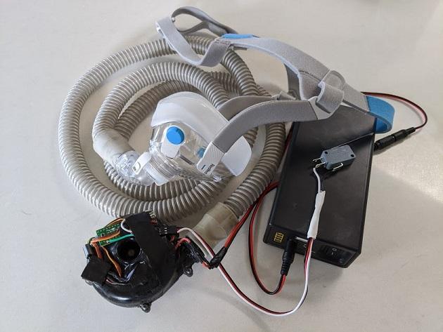 maschera respiratore polmonare