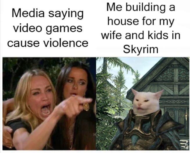 Una delle tante risposte del web all'idea che i videogiochi portino alla violenza. Credits: alkalinerush
