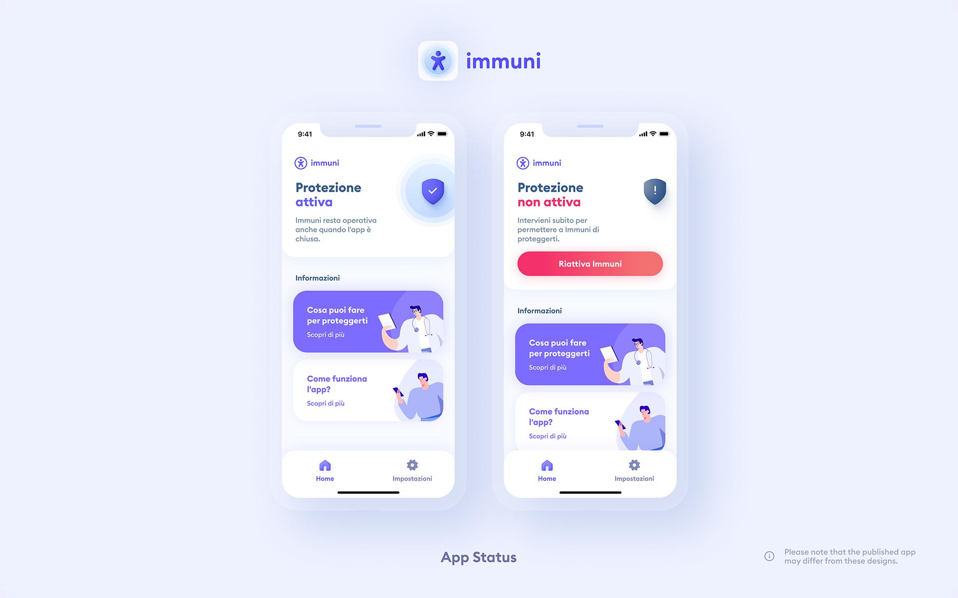 Immuni - AppStatus