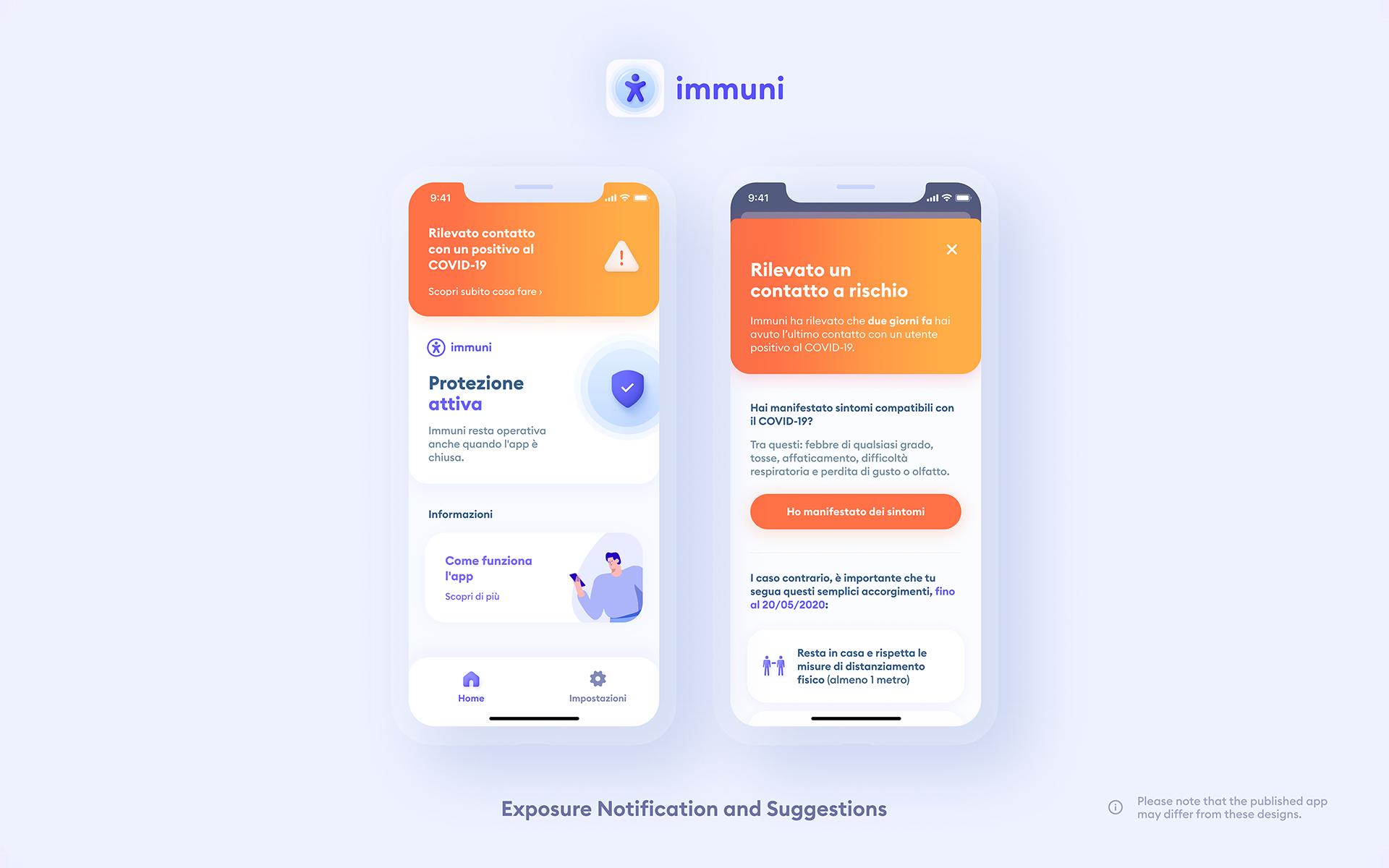 Immuni - ExposureNotificationAndSuggestions