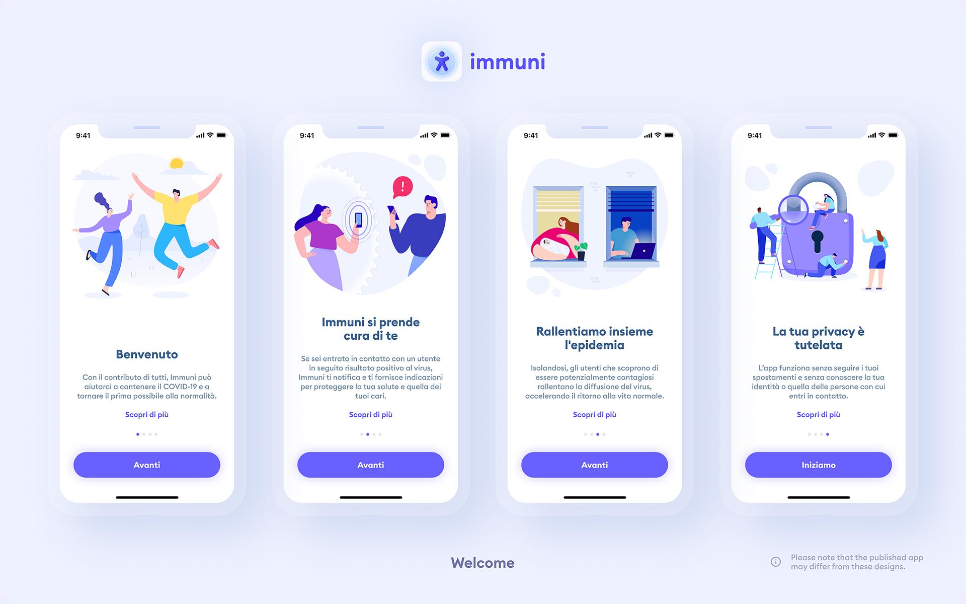 Immuni - Welcome