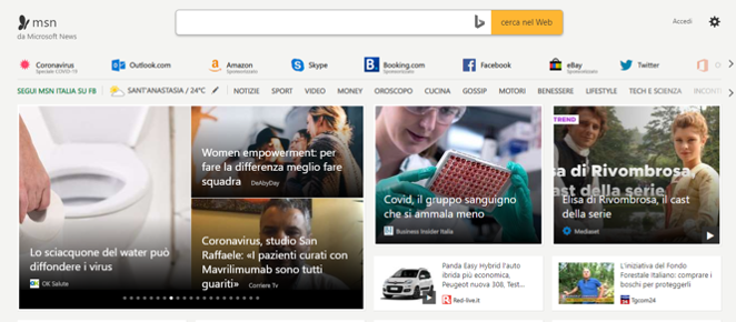 Microsoft MSN intelligenza artificiale