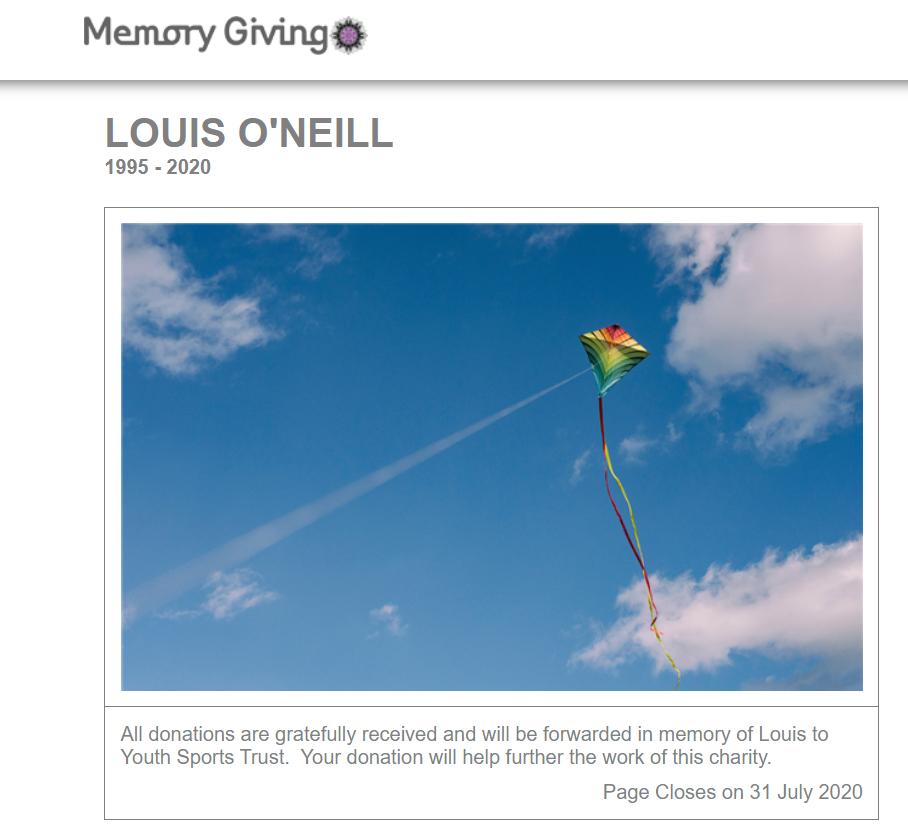 Il sito creato dal padre di Louis per ricordarlo e per promuovere una maggiore sensibilità verso l'importanza dell'attività fisica.