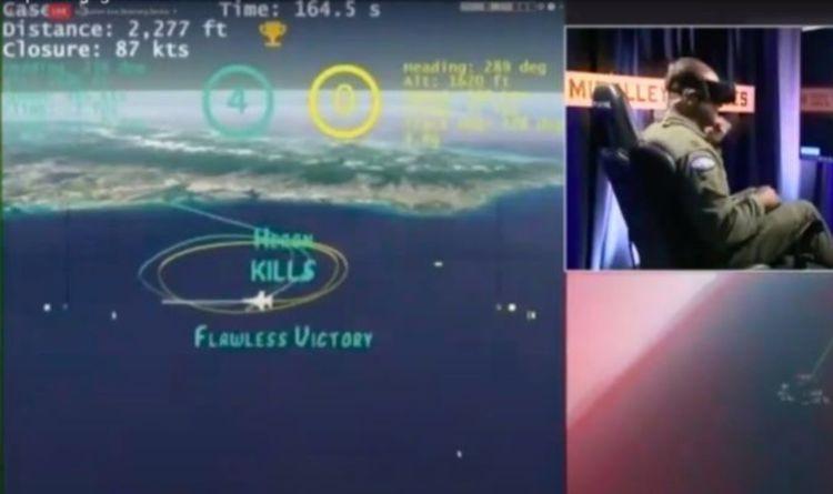 Il sistema di simulazione AlphaDogfight, nel quale l'intelligenza artificiale ha sconfitto un pilota di f-16. Credits: Daily Express