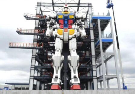 La Gundam Factory mostra al mondo il suo gigante di 18 metri