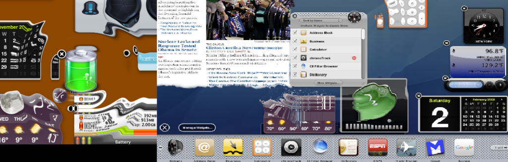 L'effetto ripple nel tema Aqua di MacOS. Credits: DLPNG.com / Wikiwand