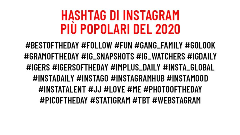Gli hashtag più usati nel 2020. Credits: Fotografia Moderna