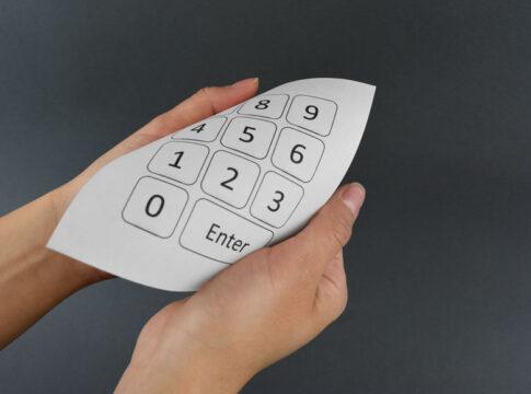 La tastiera cartacea tascabile