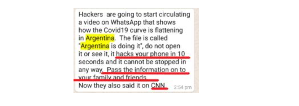 Le caratteristiche dei messaggi fake su WhatsApp. Credits: thelogicalindian.com