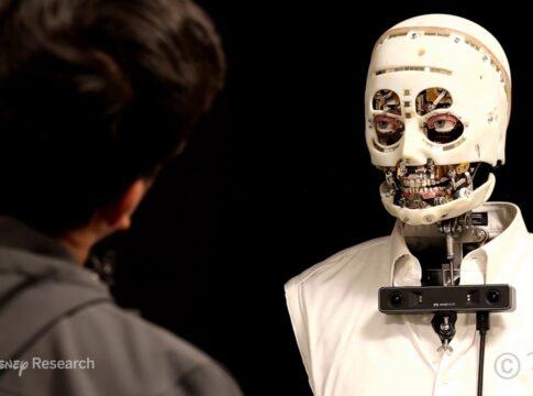 Disnery robot sguardo umano