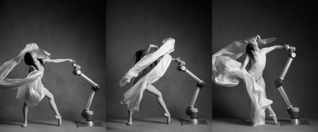 Il linguaggio del corpo nei passi di danza classica mostrano un nuovo approccio alla tecnologia.