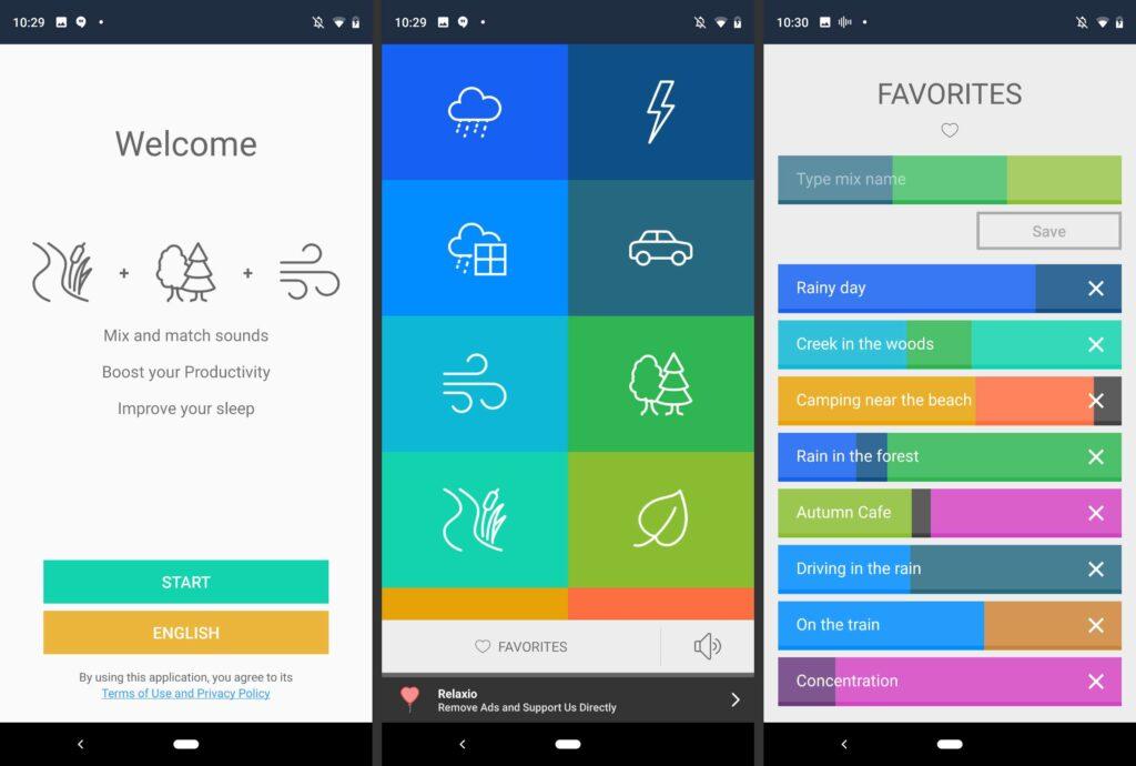 L'app permette di scegliere il rumore bianco preferito o di crearne di nuovi. Credts: Lifewire