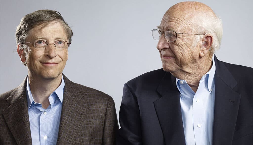 Bill Gates e suo padre, Bill Gates Sr. Credits: AARP