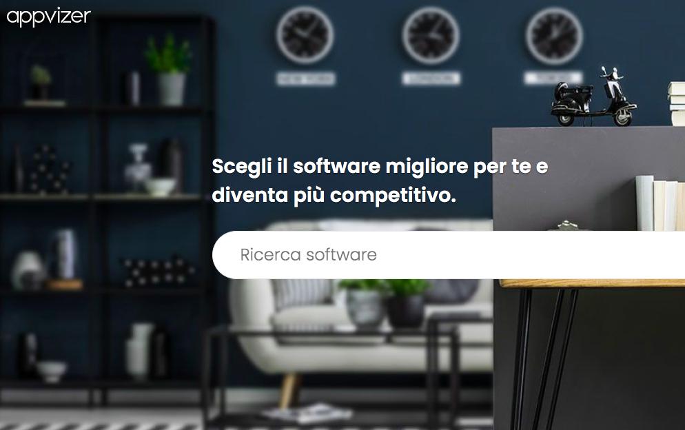Appvizer permette di ricercare la tipologia di software in relazione ai propri bisogni e confrontare gli strumenti migliori. Credits: Appvizer