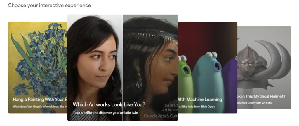 Le esperienze interattive di Google Arts & Culture.