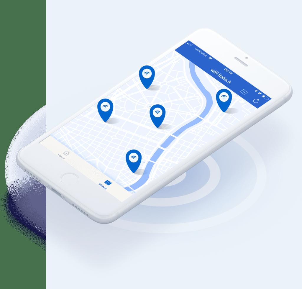 Attrverso l'app WiFi Italia è possibile richiedere wifi libero nel proprio comune