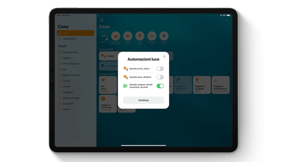 L'App casa ha molte più funzionalità a supporto della domotica. Credits: Apple