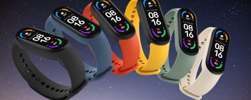 Mi Smart Band 6 in tutte le sue colorazioni. Fonte: Telefonino.net