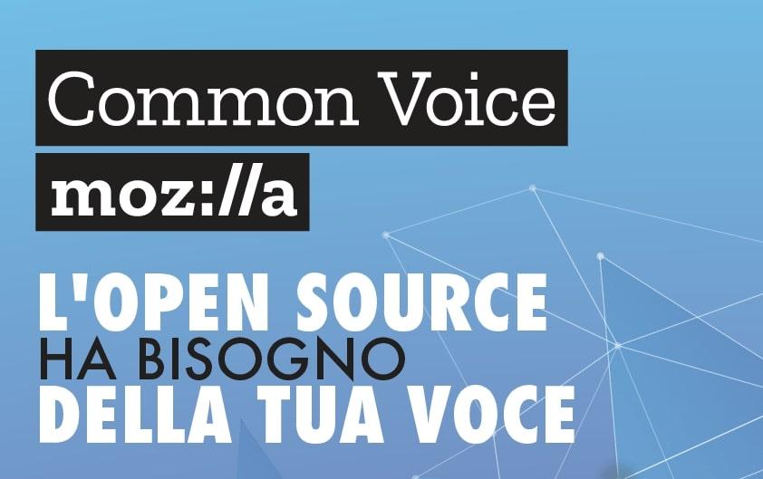 Common Voice, iniziativa di Mozilla per la creazione di un database di registrazioni vocali. Fonte: Mozilla Italia