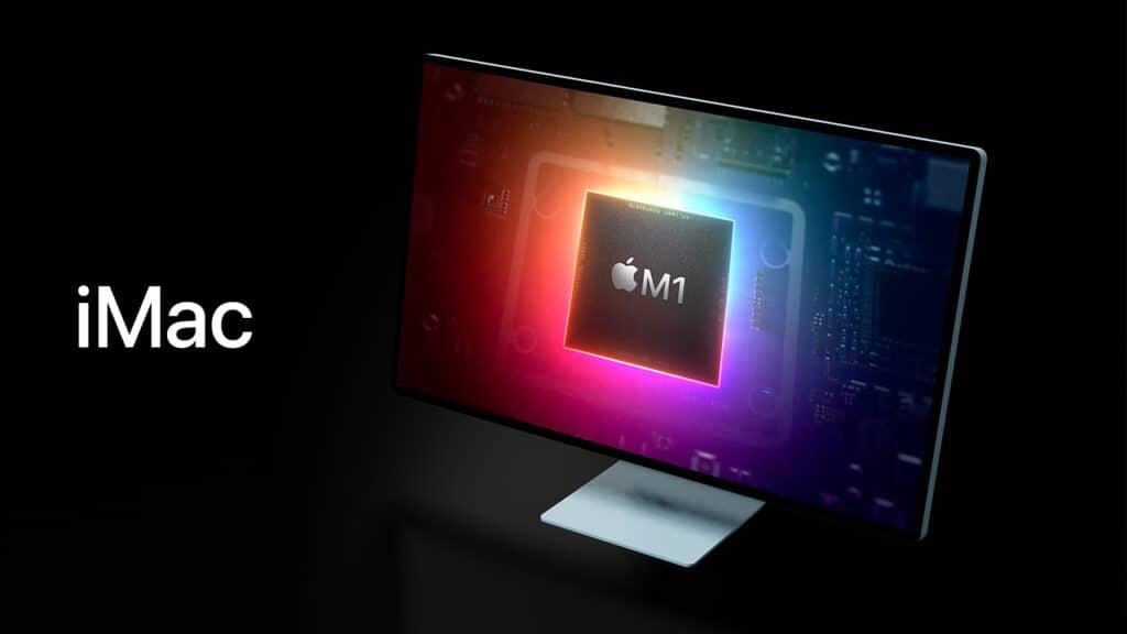 Il nuovo iMac monta il chip M1. Fonte: iSpazio