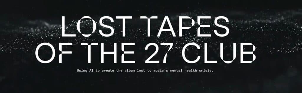 Il progetto Lost Tapes of the 27 Club di Over the Bridge. Fonte: losttapesofthe27club