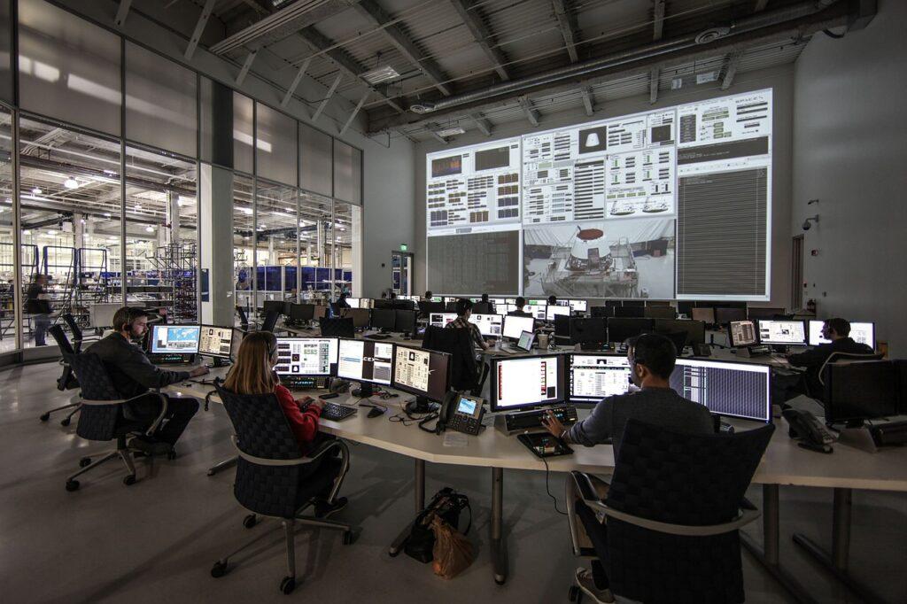 centro di controllo e software di test in SpaceX