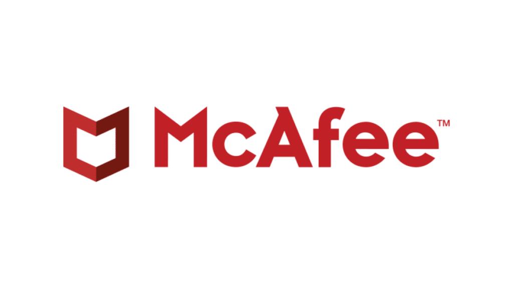 Il logo dell'antivirus McAfee: il suo creatore è morto in un carcere spagnolo.