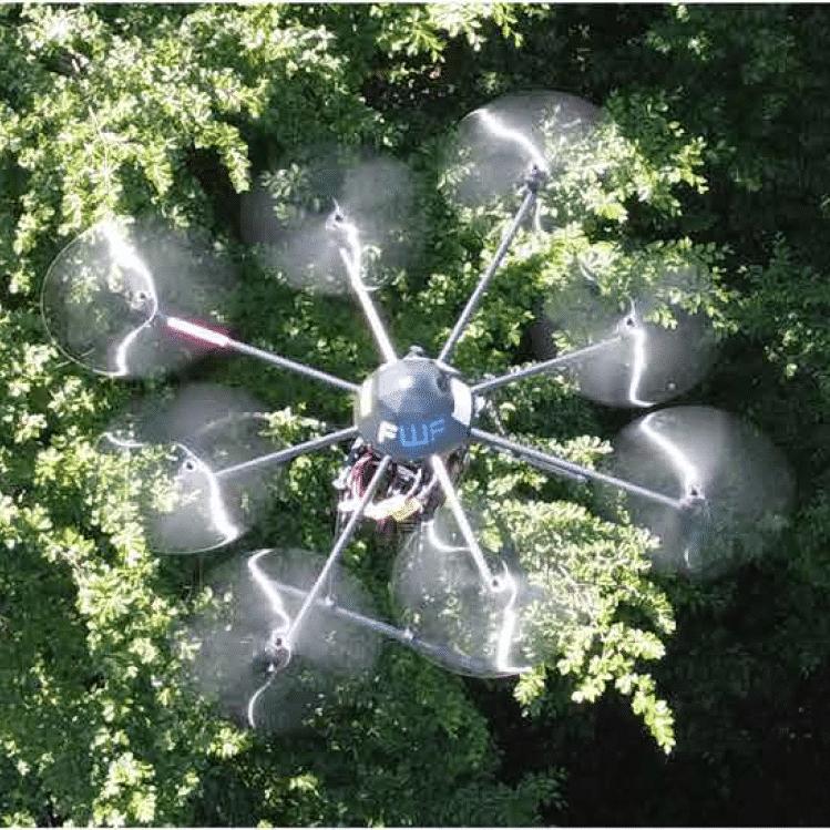 Il drone che riesce a vedere dietro gli ostacoli. Fonte: Johannes Kepler University