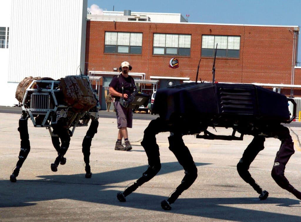 BigDog, storico robot della Boston Dynamics.